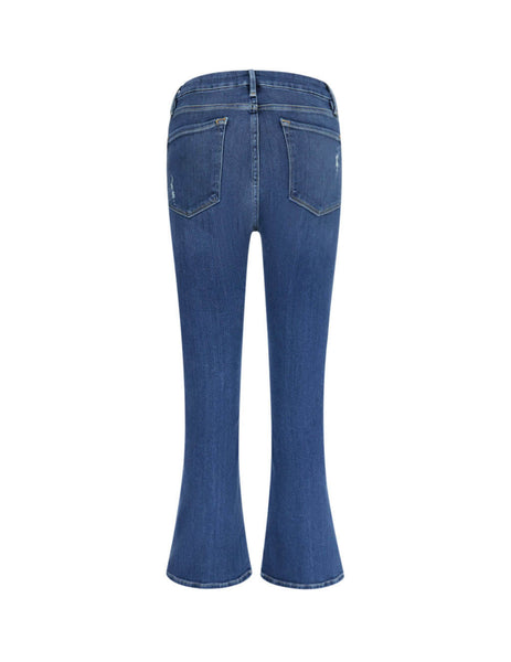 FRAME Women's Giulio Fashion Packard Rips Le Crop Mini Boot Jeans LCMB214PACR