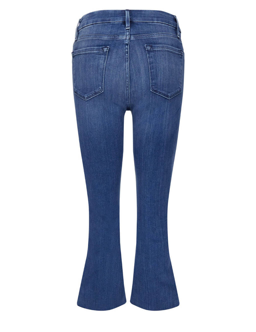 FRAME Women's Giulio Fashion Blue Le Cropped Mini Boot Raw Edge Jeans LCMBRA214-EDGW
