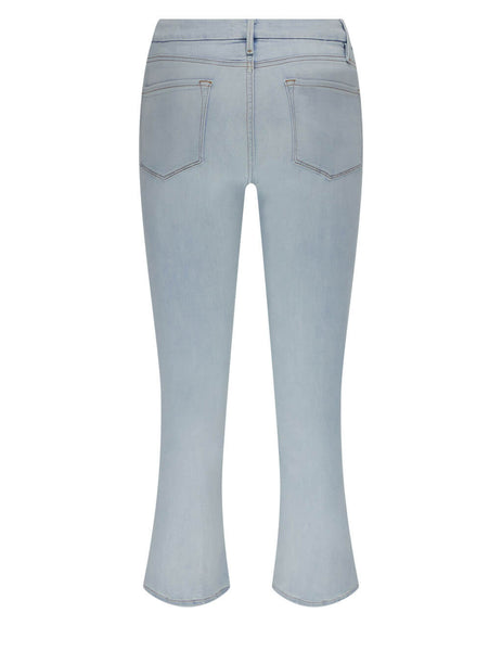 Women's FRAME Le Cropped Mini Boot Jeans in Light Blue - LCMB899-DVSN