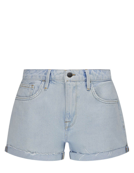 Women's FRAME Le Grand Garcon Shorts in Light Blue - LGGSH385-HWRD