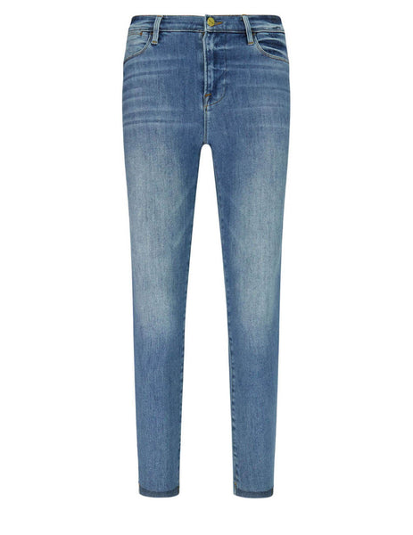 Le High Skinny Raw Stagger Jeans