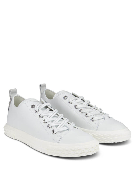 Giuseppe Zanotti White Leather Blabber Low Top Sneakers RU90027004