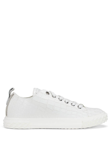 Giuseppe Zanotti Men's Giulio Fashion White Blabber Low Top Sneakers RU90028001