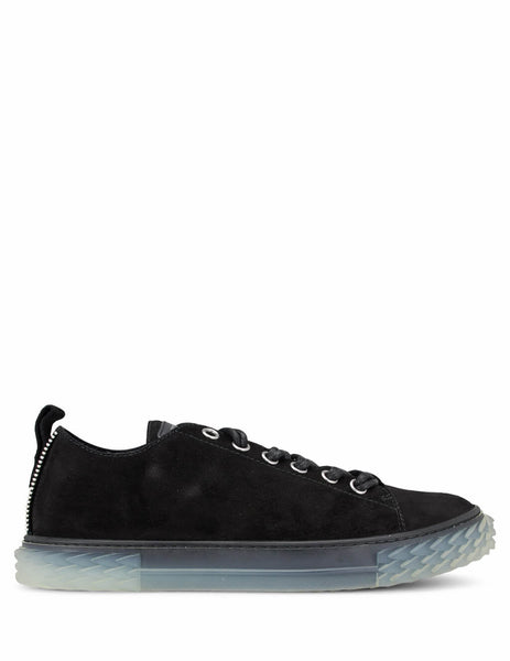 Giuseppe Zanotti Men's Giulio Fashion Black Flat Urchin Sneakers RM00027003