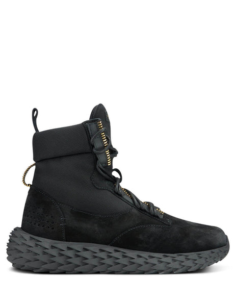 Giuseppe Zanotti Men's Black High-Top Urchin Sneakers RU90007001
