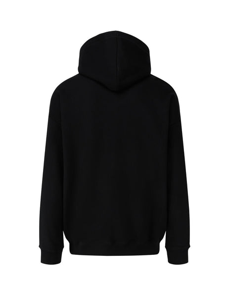 Men's Black Givenchy Address Patch Hoodie BMJ07Y30AF-001