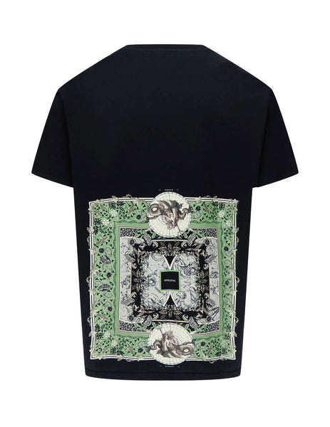 Givenchy Men's Giulio Fashion Black Atlantis Print T-Shirt BM70Y93002-001