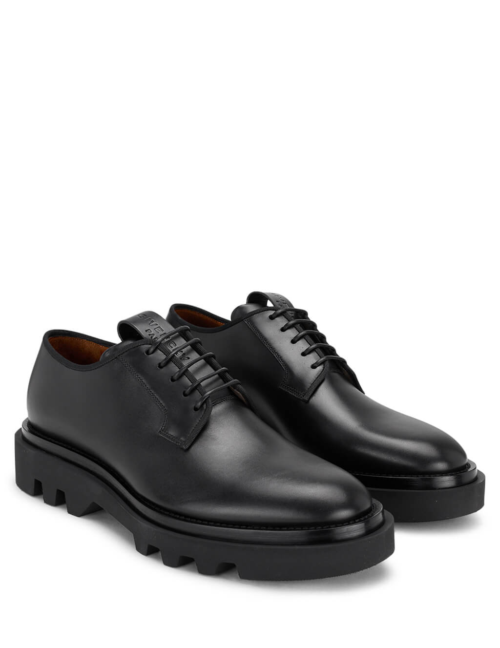 Givenchy Men's Black Leather Combat Derby Shoes BH101XH0KF 001