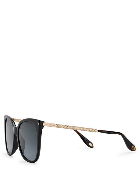 Givenchy Eyewear Women's Giulio Fashion Black Acetate Sunglasses GV7097S807