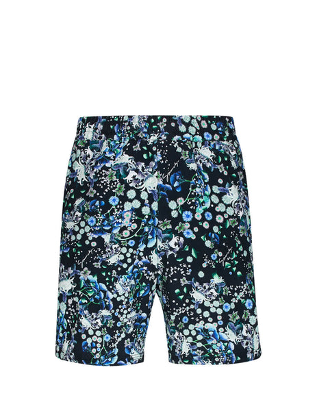 Givenchy Men's Black Floral Shorts BM50JS12QW 012