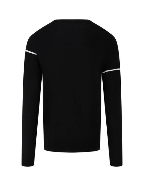 Givenchy Men's Giulio Fashion Black Split Logo Jumper BM90B4404X-004