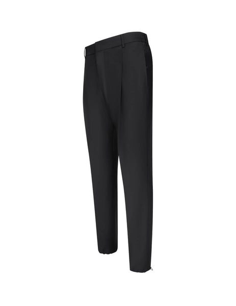 Men's Black Givenchy Tailored Wool Jogger Pants BM50KY1Y8K-001
