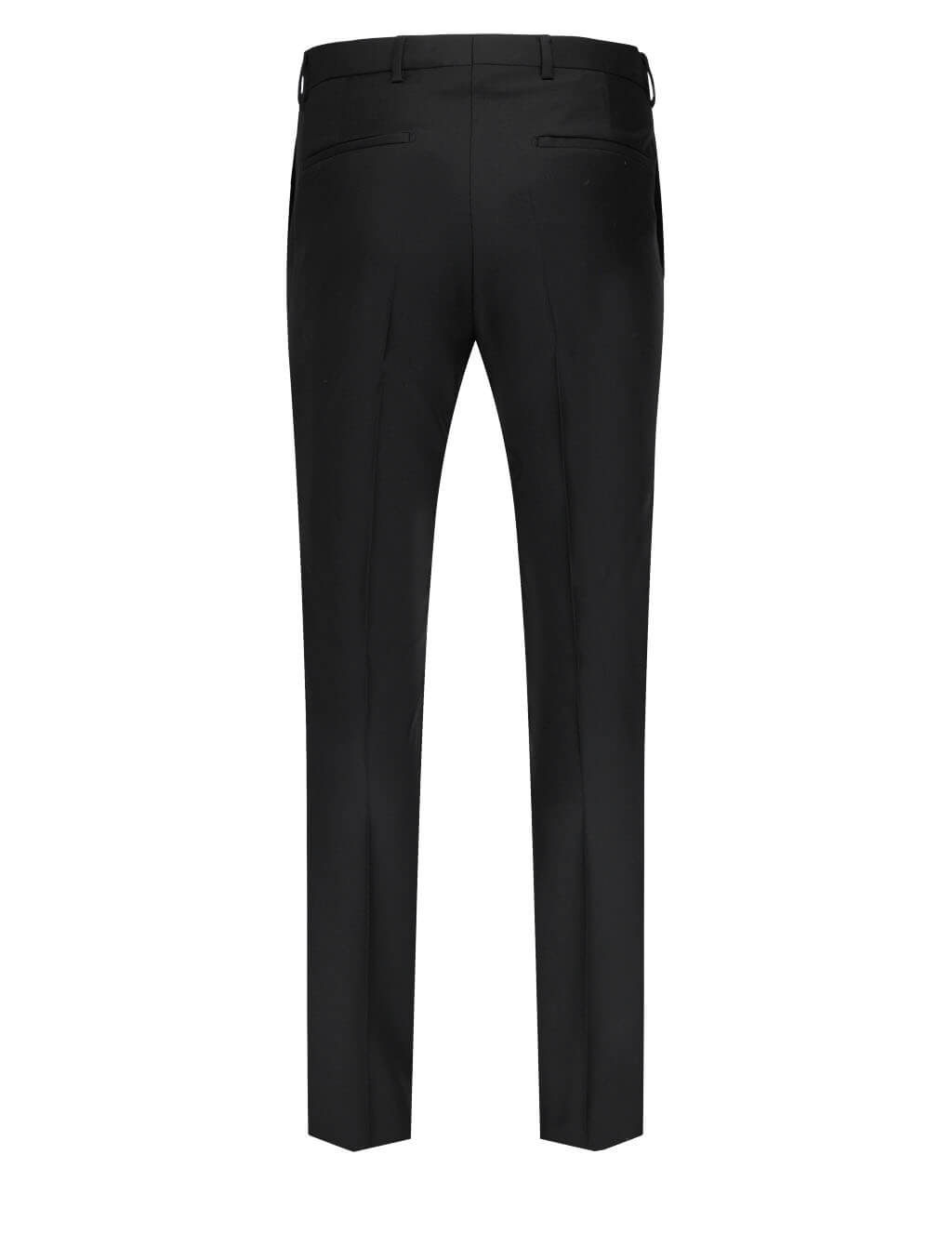 Men's Givenchy Contrasting Topstitch Wool Trousers in Black - BM50RB1Y8K-001