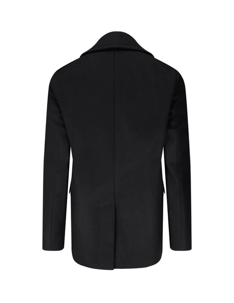 mens givenchy 4g button wool pea coat in black BMC0451Y7R-001