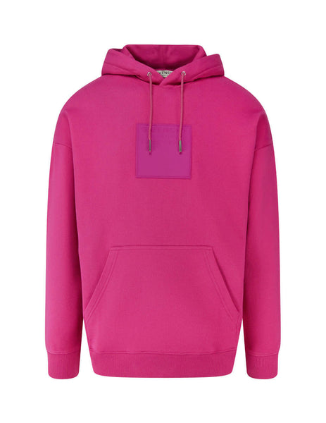 Givenchy Men's Giulio Fashion Fuchsia Address Patch Hoodie BMJ07Y30AF-675