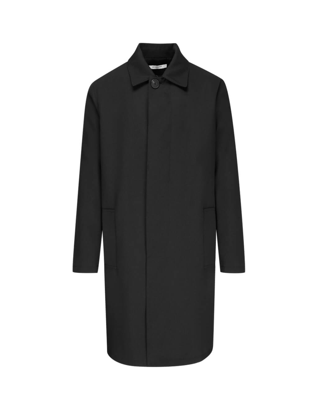 Givenchy Men's Black Atelier Print Wool Coat Bm00Cj124N001