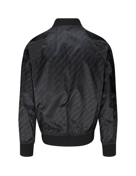 mens givenchy chain motif reversible bomber jacket in black BM00LV132T-001