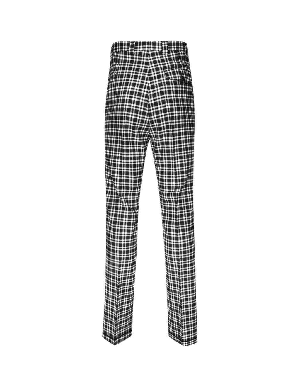 Givenchy Men's Giulio Fashion Black Check Trousers BM50AY123G004