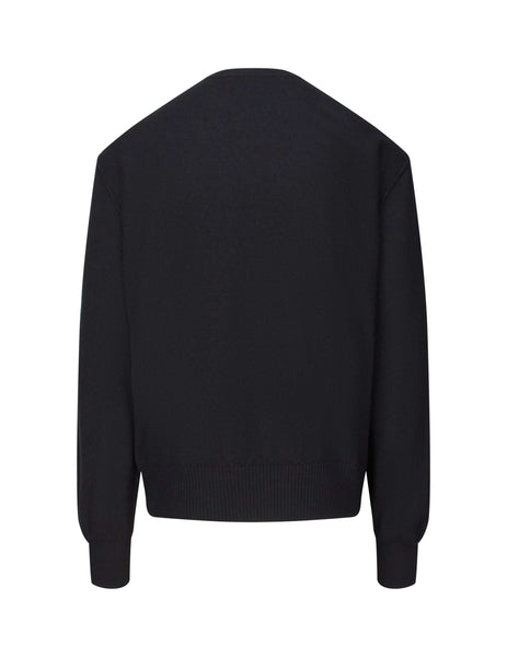 Givenchy Men's Black Embroidered Logo Knit BM908P4Y3J001