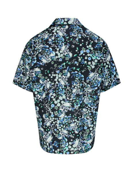 Givenchy Men's Giulio Fashion Black Floral Shirt BM60DV12MX 012