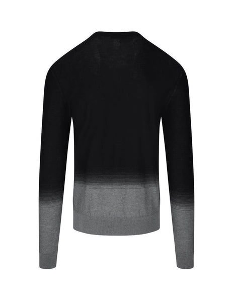 Givenchy Men's Black Gradient Jumper BM90DM4Y6D-002