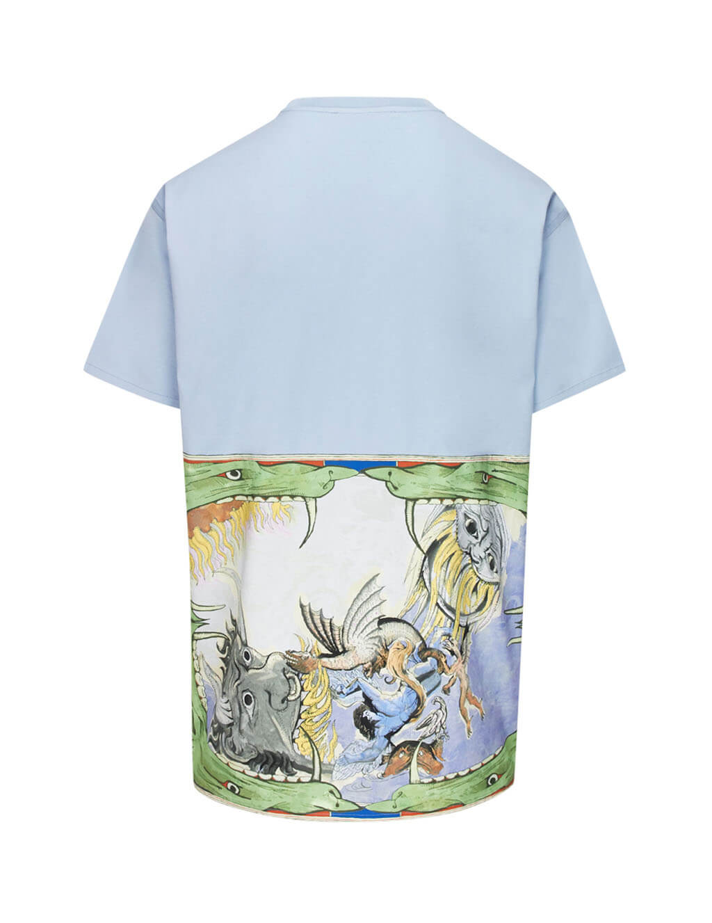 Givenchy Men's Giulio Fashion Light Blue Icarus Oversized T-Shirt BM70QG3002451