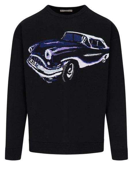 Givenchy Men's Black Intarsia Car Jumper BM90F94Y7J