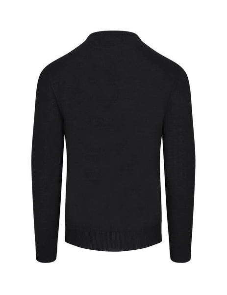 Givenchy Men's Giulio Fashion Black/White/Red Label Sweater BM90BT406B973