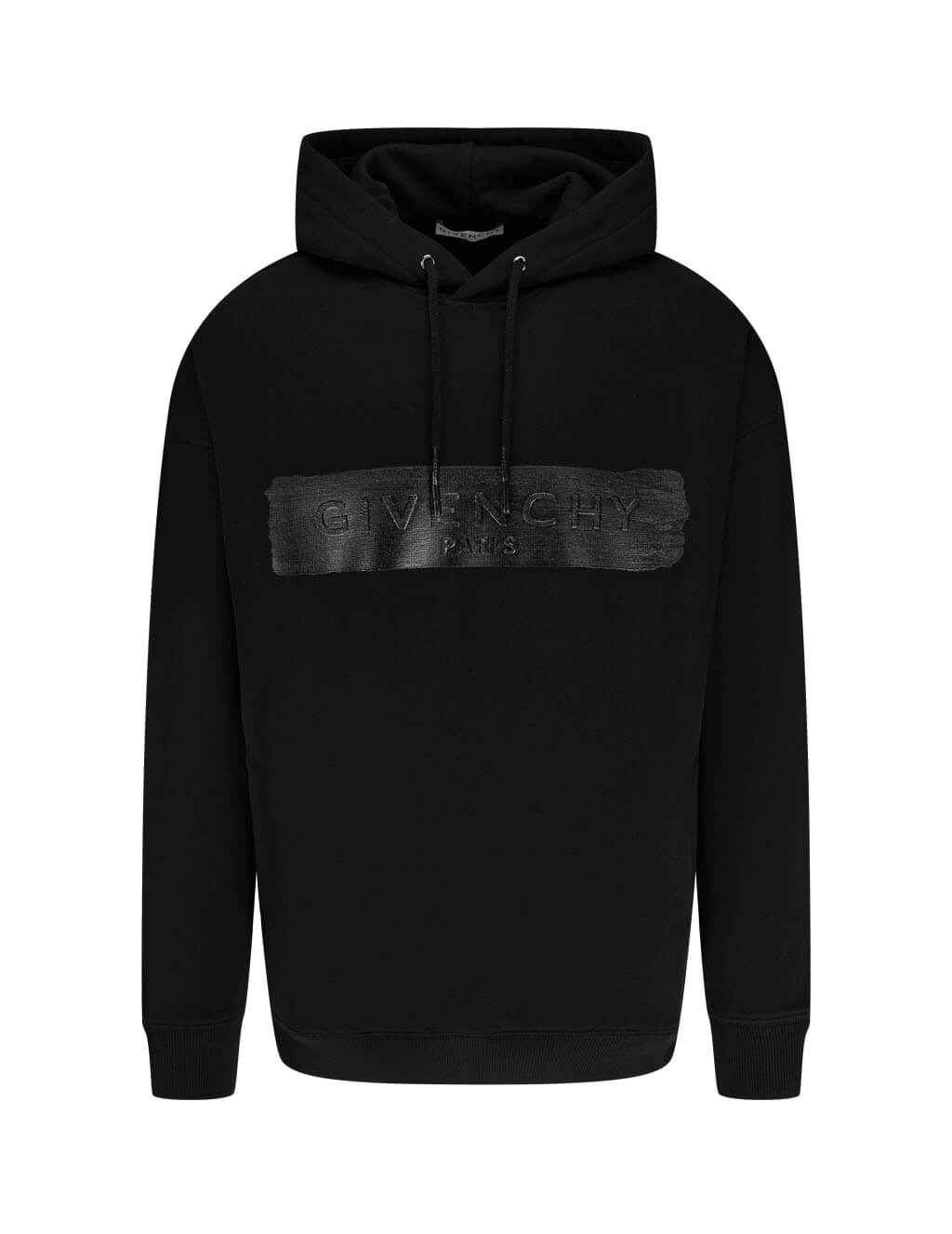 Men's Givenchy Latex Band Hoodie in Black - BMJ09030AF-001