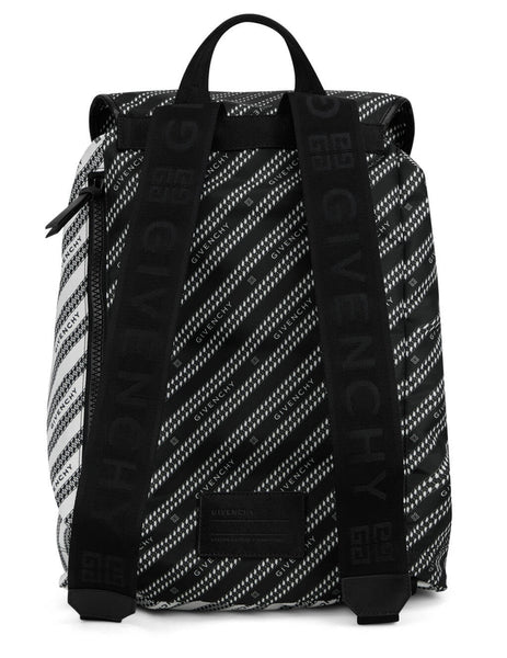 Givenchy Men's Black Light Two-Tone Backpack BK500MK12F