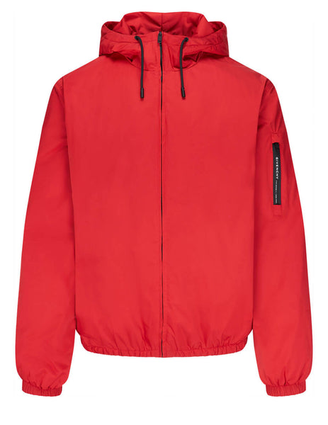 Givenchy Men's Vermillion Quilted Windbreaker BM00NJ13EN-640