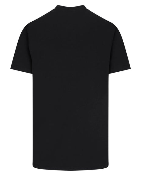 Givenchy Men's Black Refracted Givenchy T-Shirt BM70YC3002