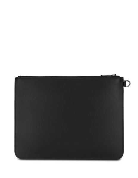 Givenchy Men's Giulio Fashion Black Refracted Pouch BK600JK0XG-004