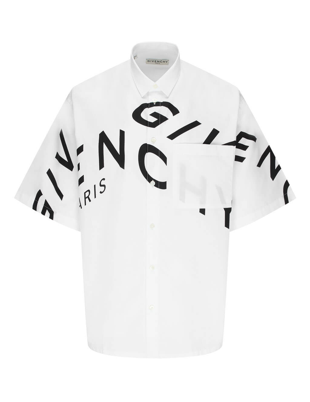 Givenchy Men's Giulio Fashion White Refracted Shirt BM60L3109F-100
