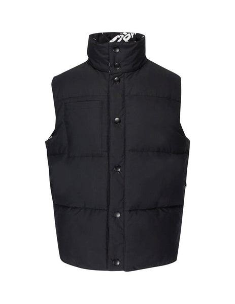 Givenchy Men's Giulio Fashion Black Reversible Logo Gilet BM00BB1240001