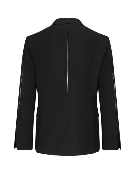 Alexander McQueen Men's Giulio Fashion Black Slashed Detail Wool Jacket 615303QPU721000