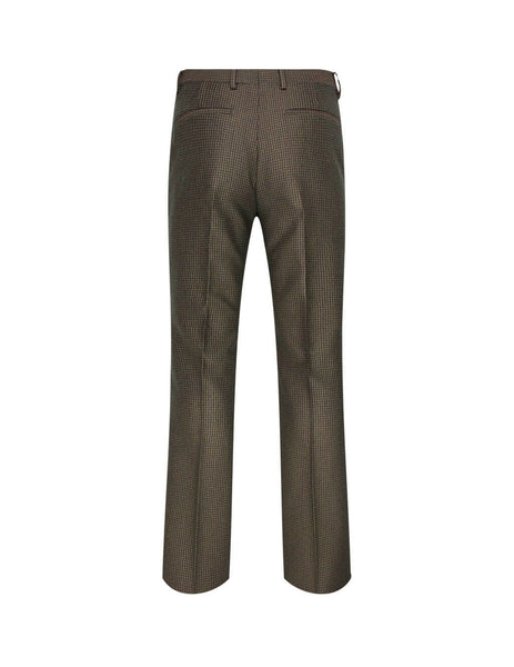 Men's Givenchy Small Check Trousers in Black/Green - BM50NE1383-013