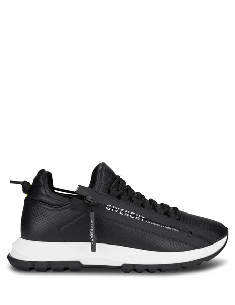 Givenchy Men's Giulio Fashion Black Spectre Runner Zip Sneakers BH003MH0NJ-001