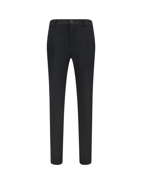 Givenchy Men's Black Tapered Trousers BM50JB12KY 001