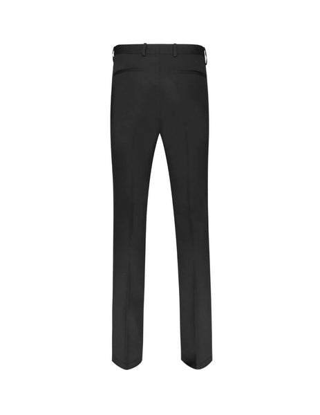 Givenchy Men's Black Textured Wool Trousers Bm50Eh100G001