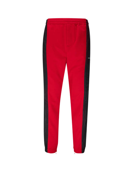 Men's Black and Red Givenchy Two-Tone Sweatpants BM50FM1Y7W009