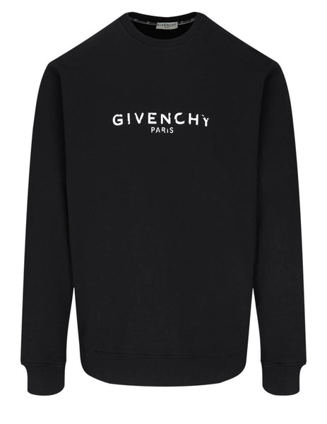 Givenchy Men's Black Vintage Sweatshirt BM700U30AF