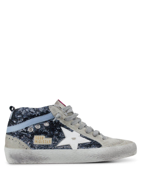 Golden Goose Deluxe Brand Women's Navy Mid Star Sneakers G36WS634.V2