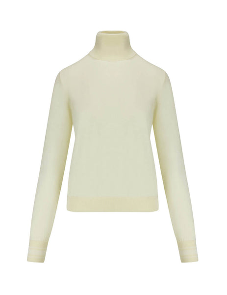 Golden Goose Deluxe Brand Women's Giulio Fashion Natural White Ajisai Turtleneck Sweater G35WP177.A2