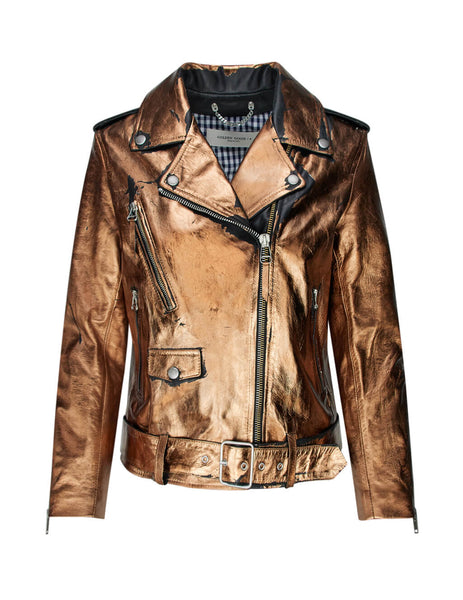 Golden Goose Deluxe Brand Women's Giulio Fashion Distressed Bronze Dakota Jacket G36WP136.A3