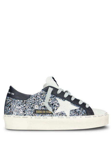 Golden Goose Deluxe Brand Women's Giulio Fashion Blue Hi Star Sneakers G35WS945H1