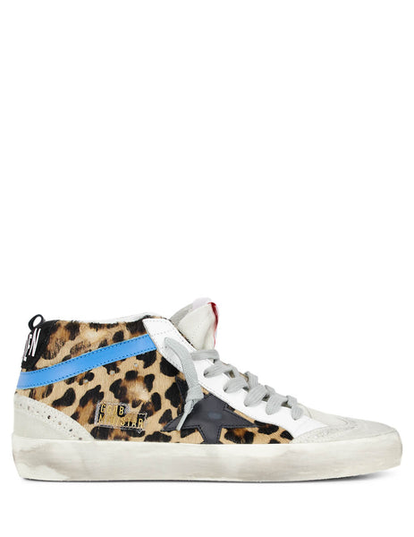 Golden Goose Deluxe Brand Women's Giulio Fashion Leopard Pony Mid Star Sneakers G35WS634T6