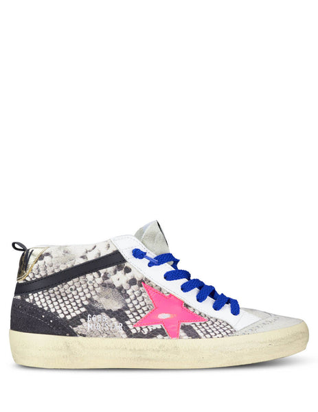 Golden Goose Deluxe Brand Women's Giulio Fashion White Mid Star Sneakers G35WS634T5