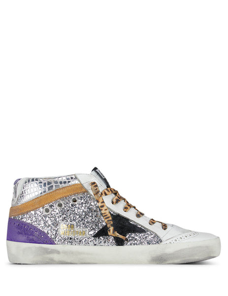 Golden Goose Deluxe Brand Women's Giulio Fashion White Mid Star Sneakers G36WS634.A24