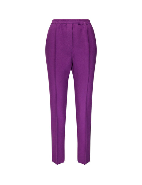 Golden Goose Deluxe Brand Women's Giulio Fashion Purple Raw Cut Trousers G35WP119A1